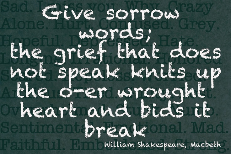 give-grief-words